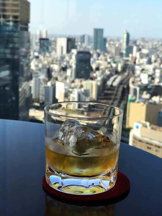 27th-floor hotel drinks overlooking Tokyo