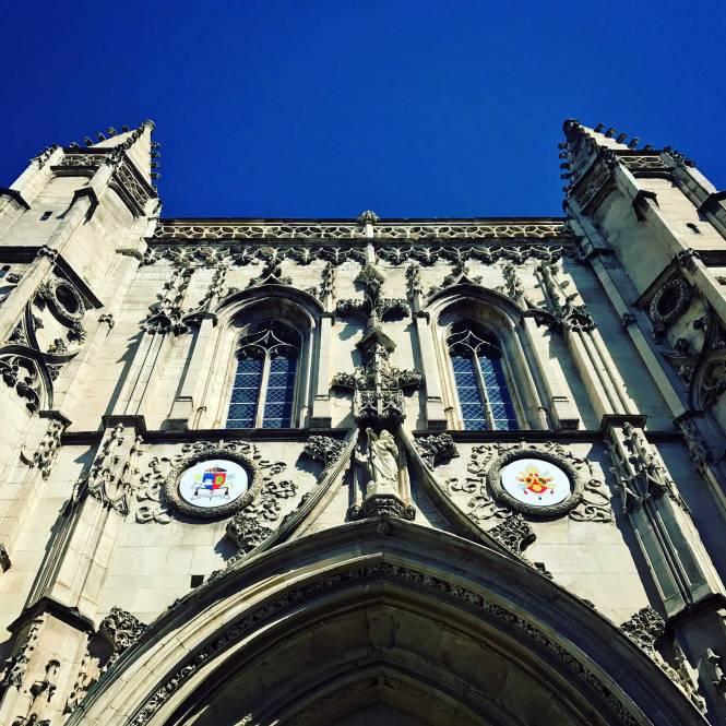 Church facade in Avignon, France