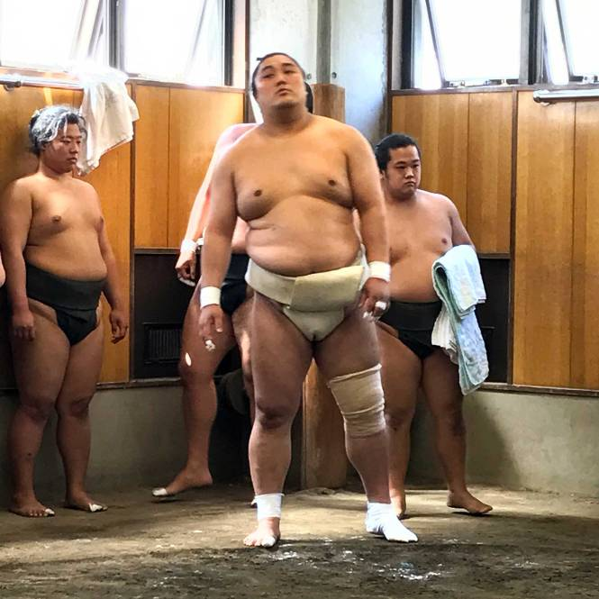 Big Kahuna in sumo practice