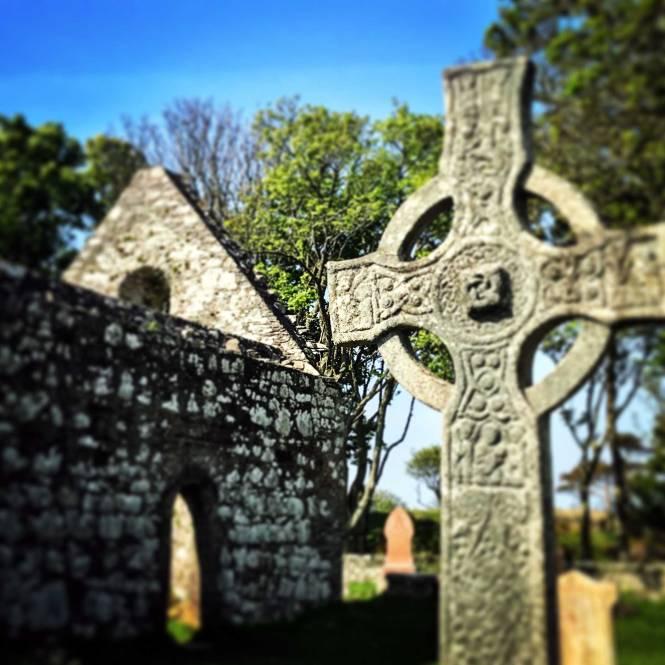 Kildalton Church and Cemetery in Islay, Scottish Highlands