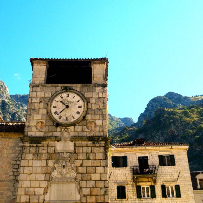 Kotor, Montenegro clock tower