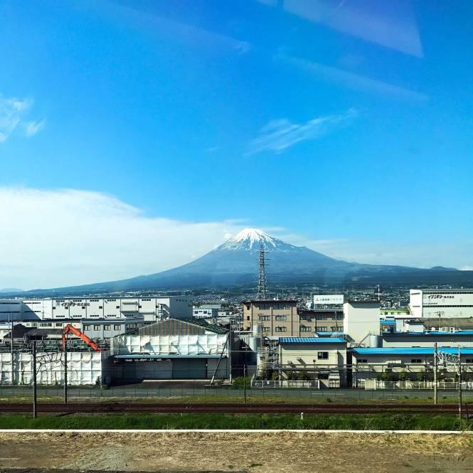 Mount Fuji from bullet train