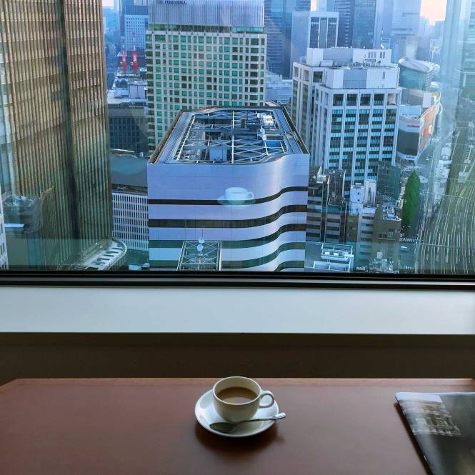Morning coffee in Tokyo