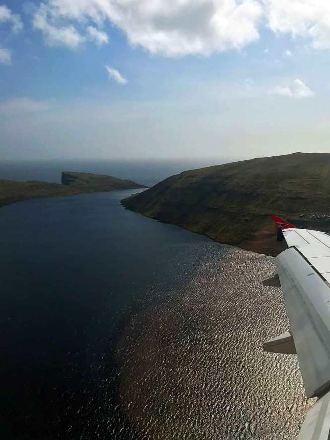 hanging lake from plane
