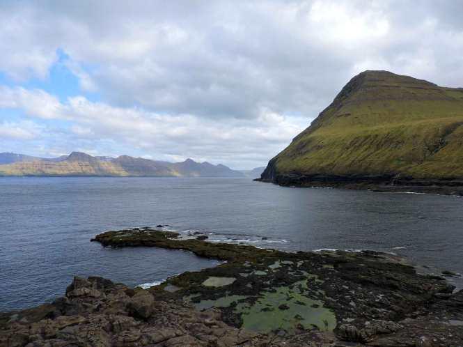 view from gjogv faroe islands