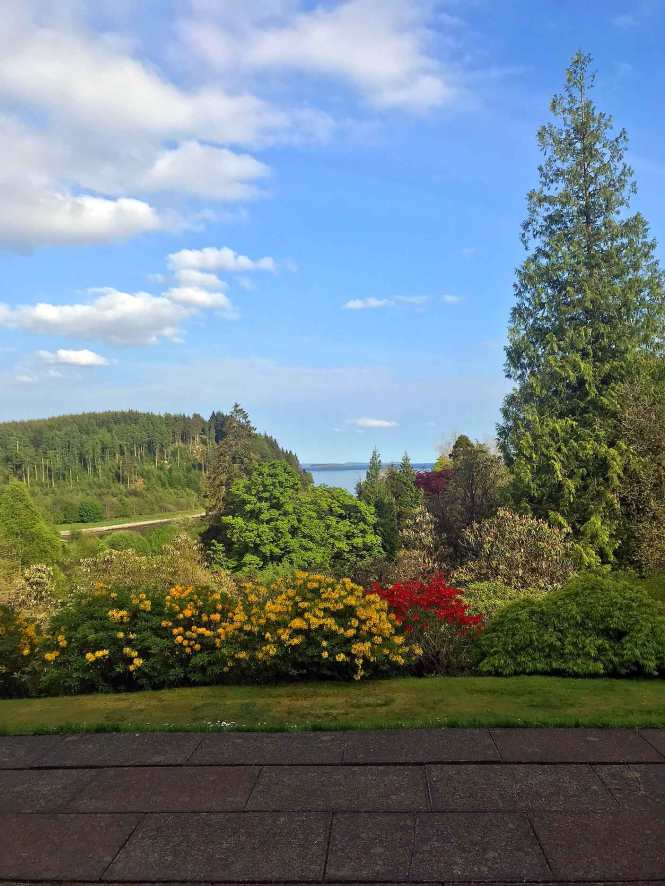 view from stonefield castle in scotland
