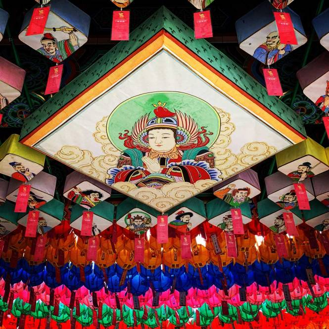 Jogyesa Temple lanterns in Seoul