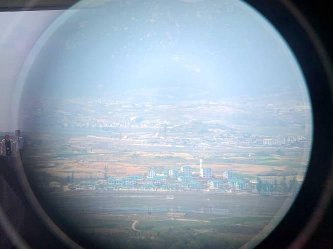 Visiting the DMZ, propaganda village in North Korea
