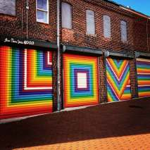 The Love mural in Blagden Alley, DC