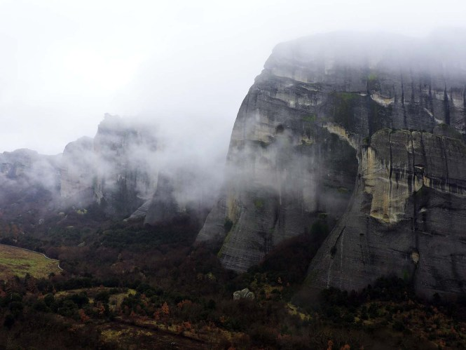 View of Meteora cliffs