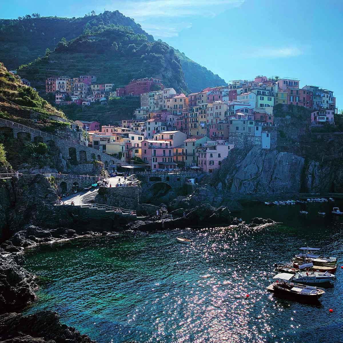 Manarola homes in Cinque Terre, Italy