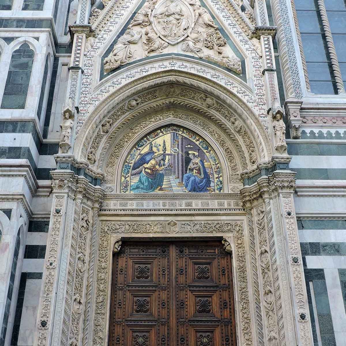 Details of the Duomo door in Florence