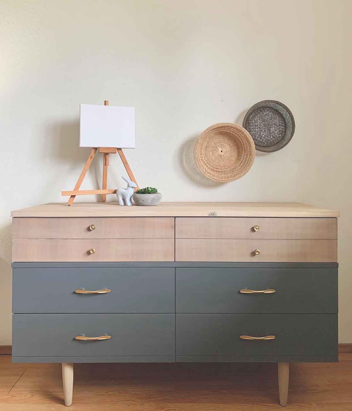 Travel the world with Tia Leah Creations gray dresser