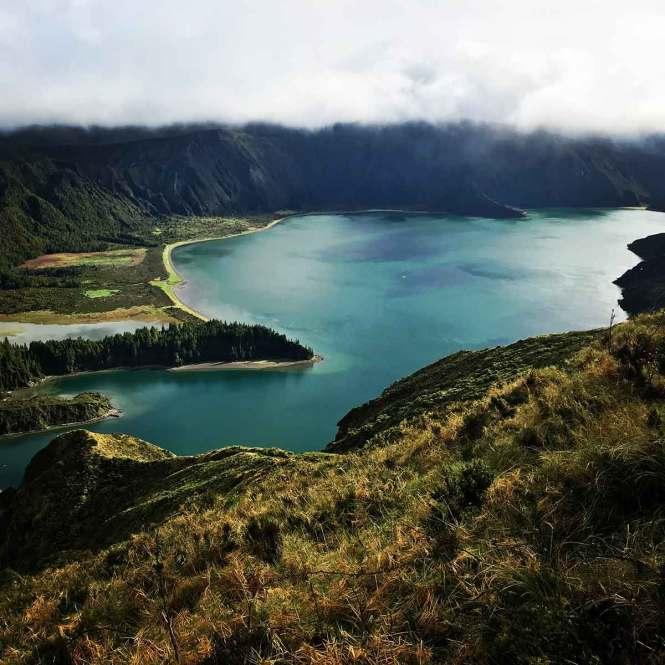 Lagoa da Fogo in the Azores