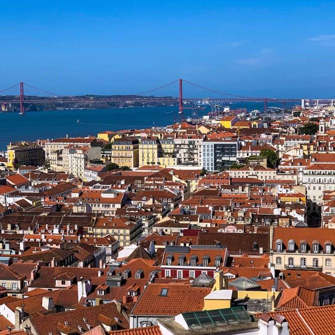 View of Lisbon, Portugal from Castelo de Sao Jorge