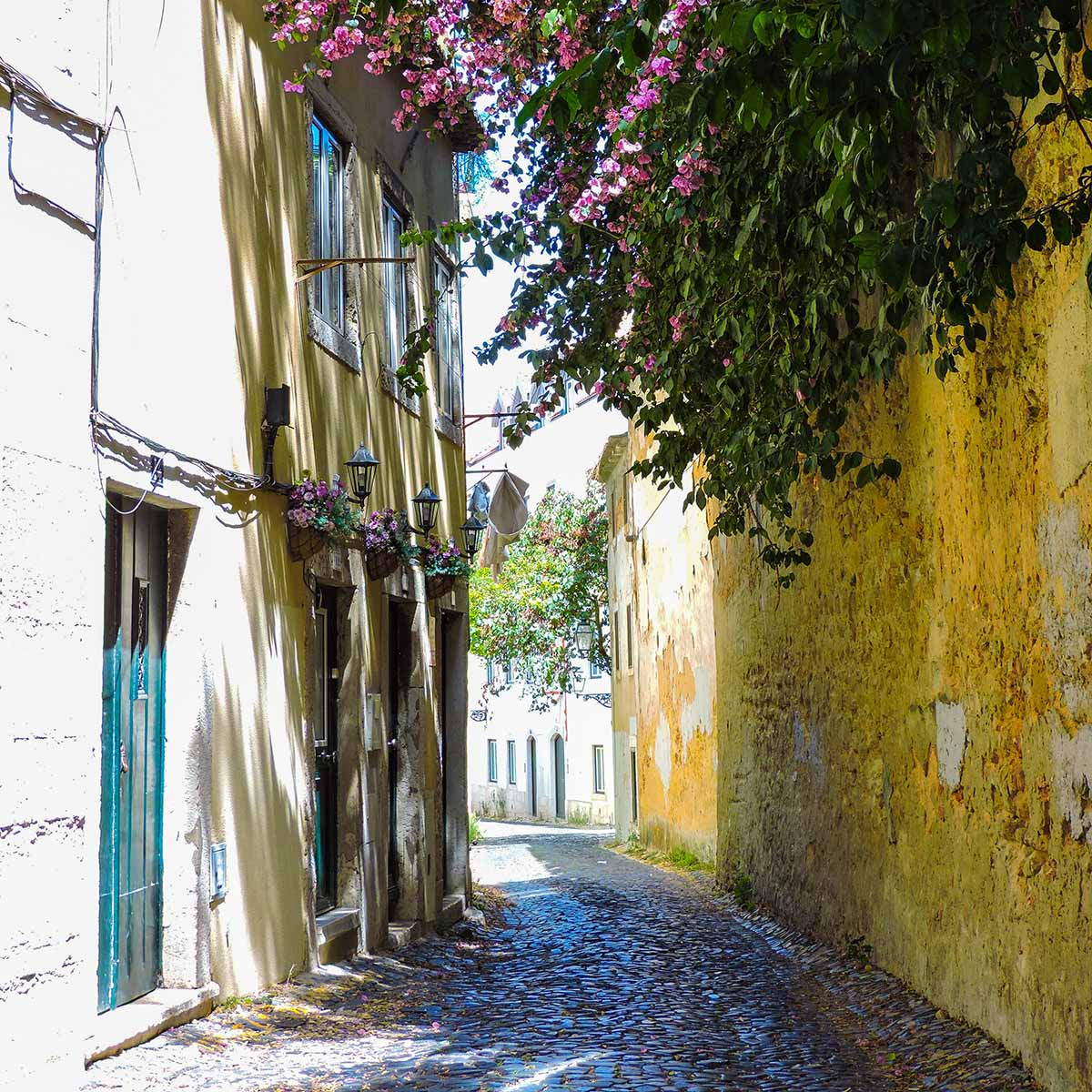 A picturesque side street in Alfama
