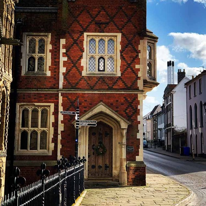 Bury St. Edmunds, England on our UK road trip