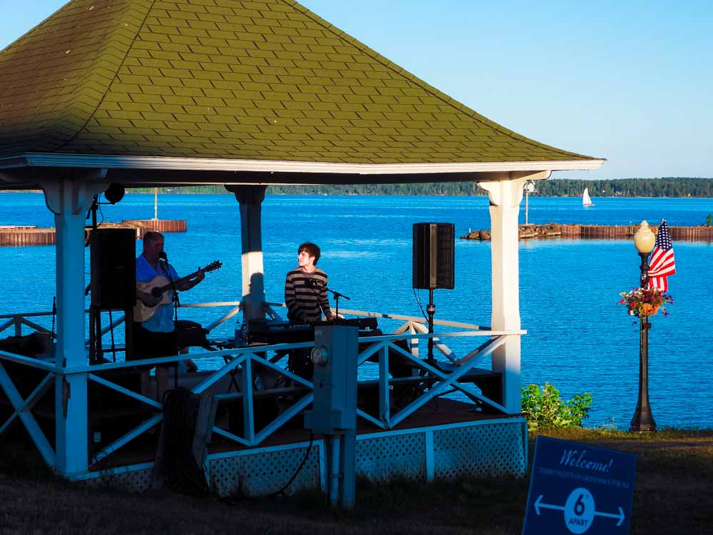Gazebo concert behind Bayfield Inn