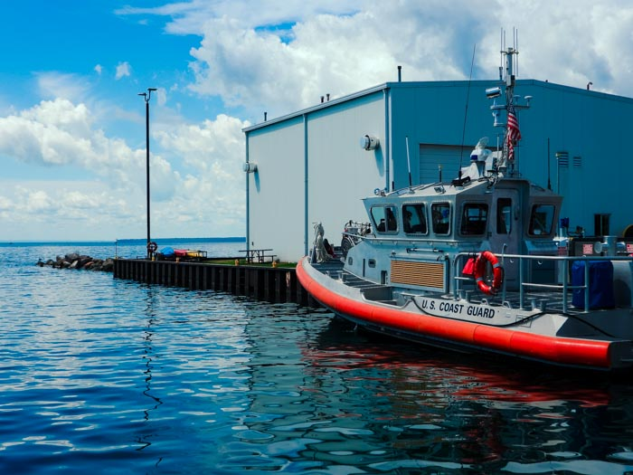 US Coast Guard in Bayfield, Wisconsin