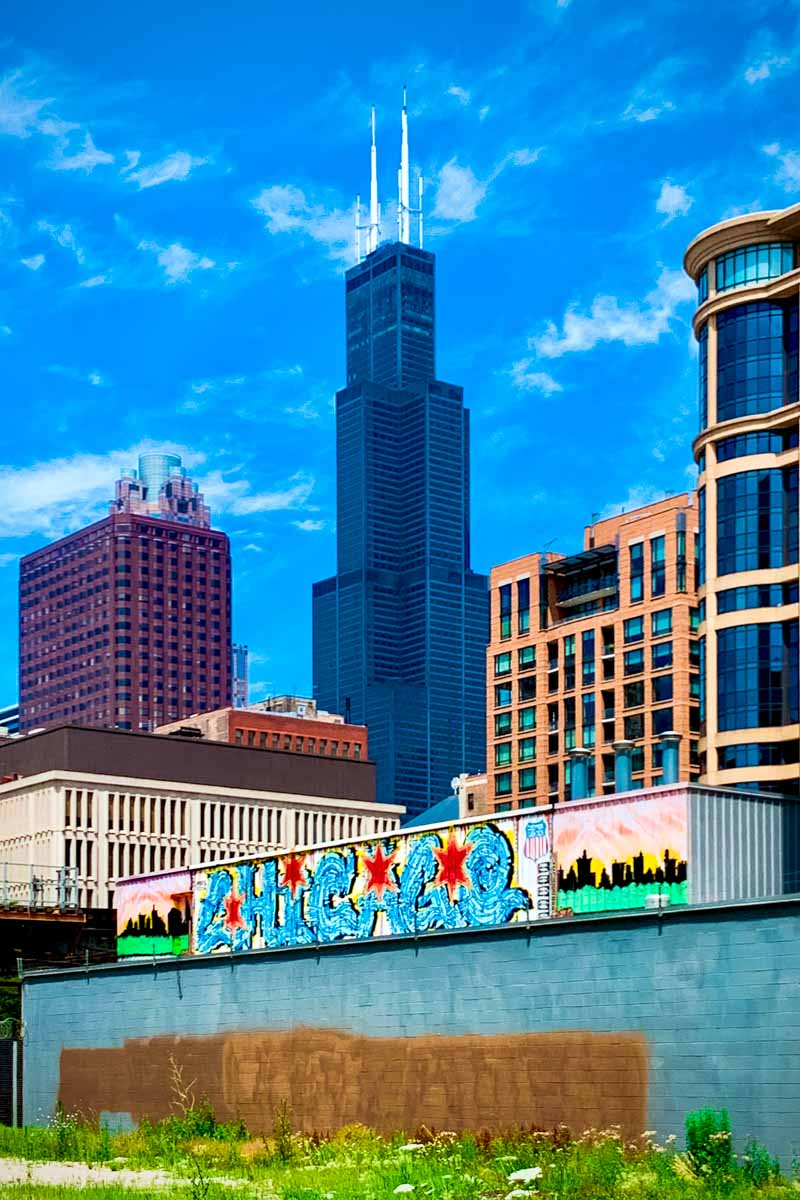 Sears Tower from Wabash Arts Corridor