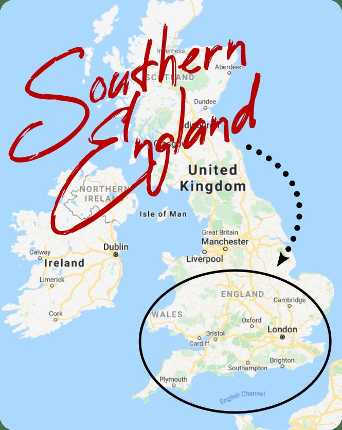 UK road trip map
