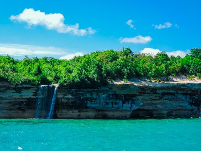 Spray Falls at Pictured Rocks National Lakeshore