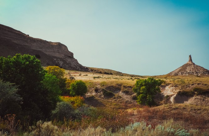 Chimney Rock while road-tripping Nebraska
