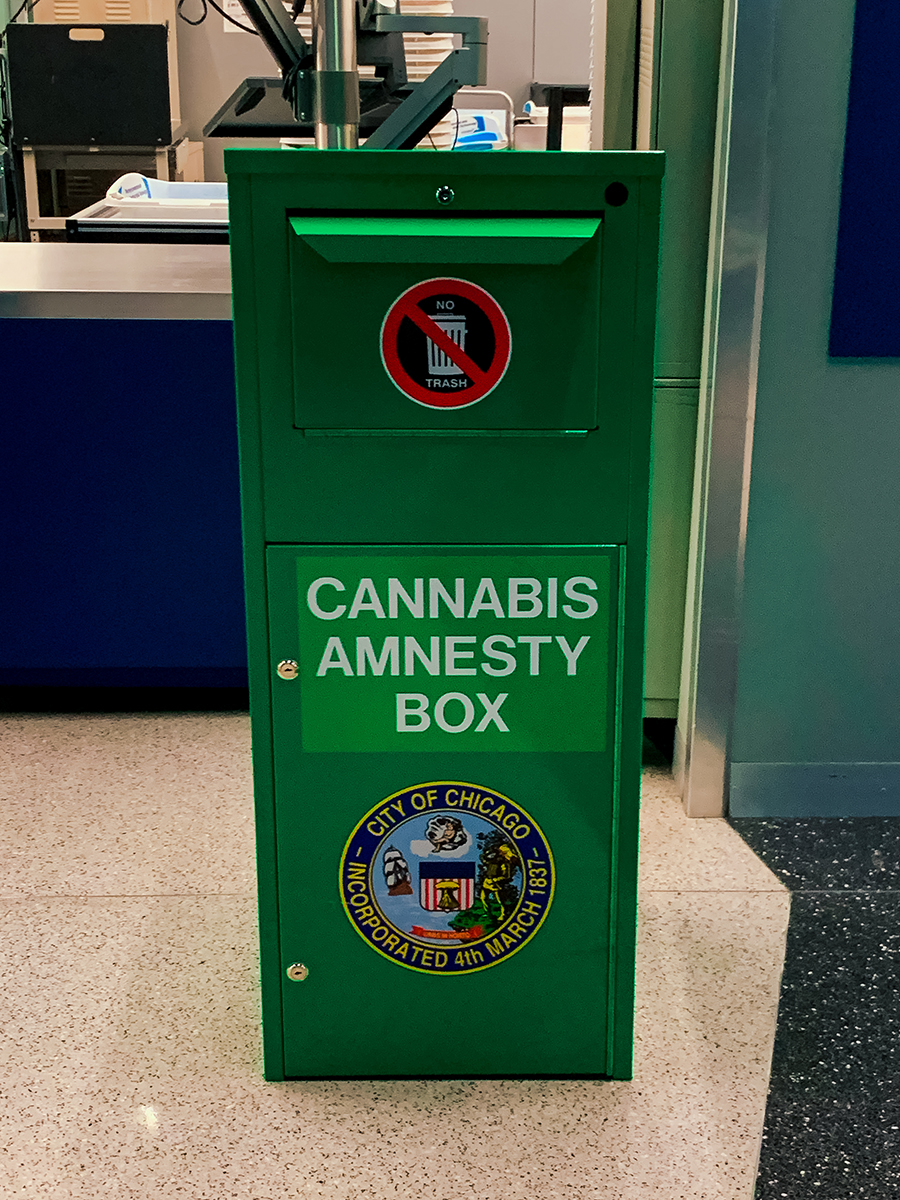 O'Hare cannabis amnesty box
