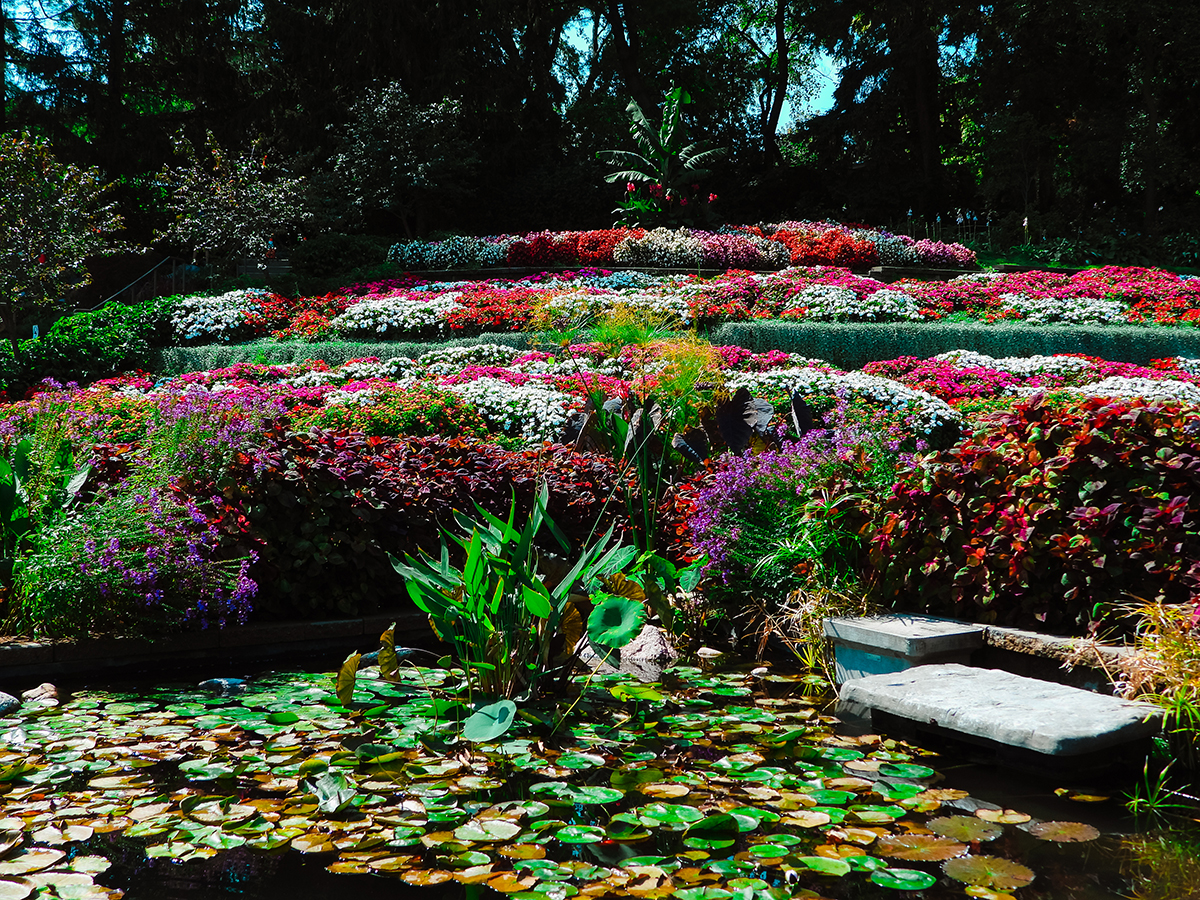Sunken Gardens in Lincoln, Nebraska