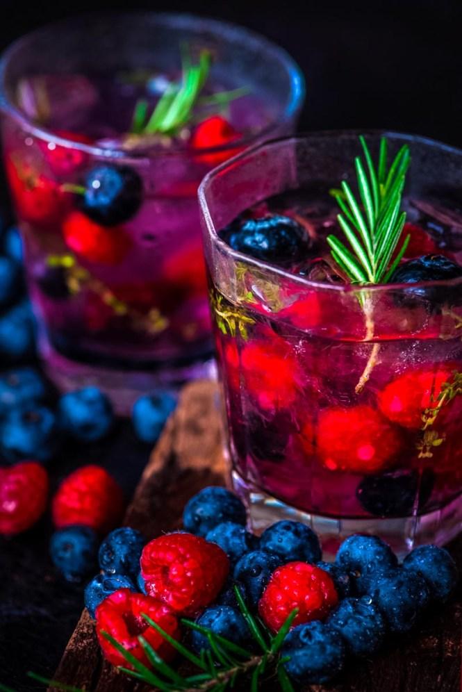 Berry Limoncello Sangria Christmas Cocktail
