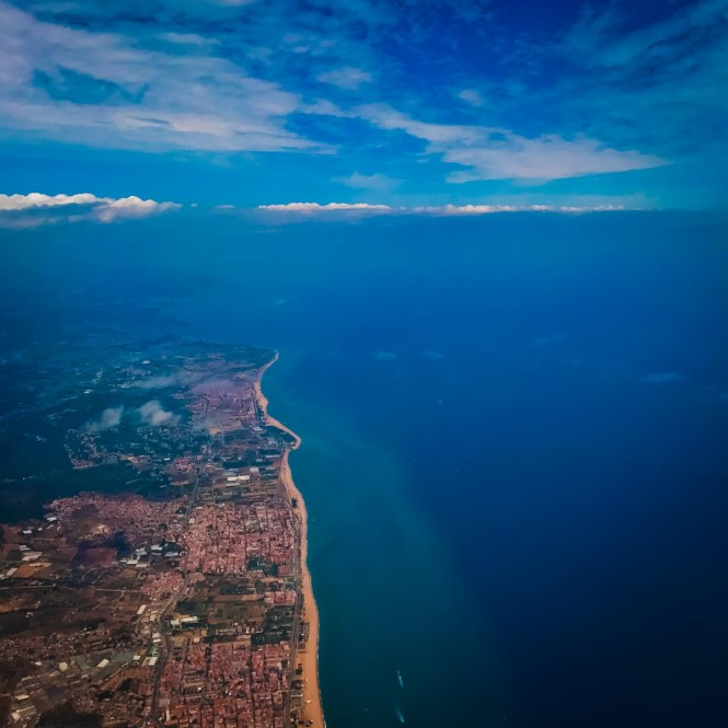 Catalonian coastline from above
