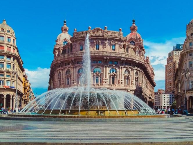 Fountain in Genoa, Italy