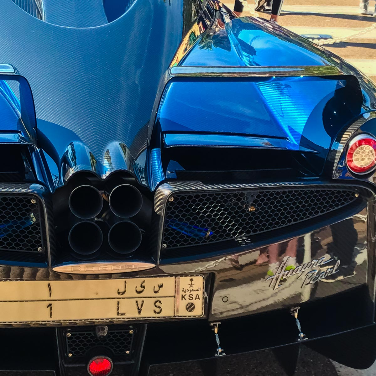 Huayra Pearl tail end