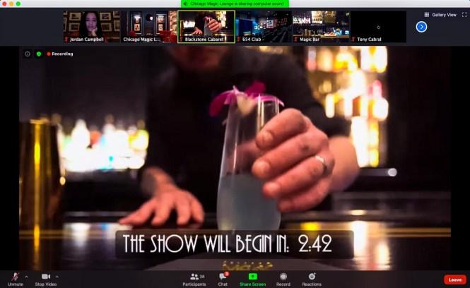 Chicago Magic Lounge's virtual magic show intro