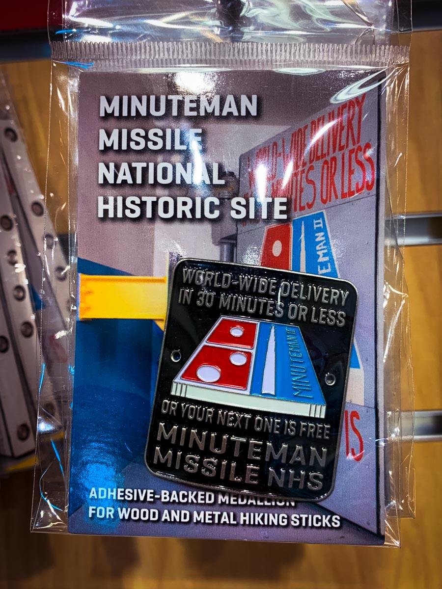 Minuteman Missile Center sticker, weird things to do in South Dakota