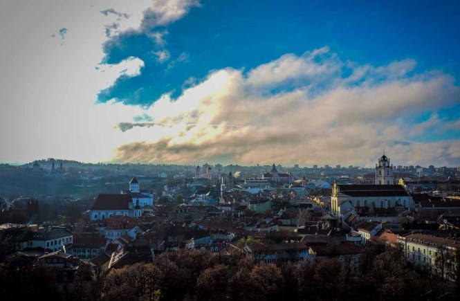 View of Old Town Vilnius