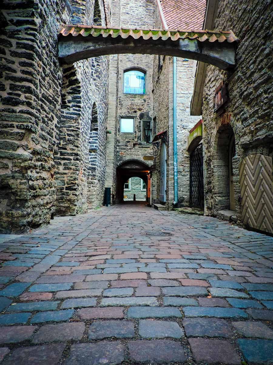 St Catherine's Passageway in Tallinn, Estonia