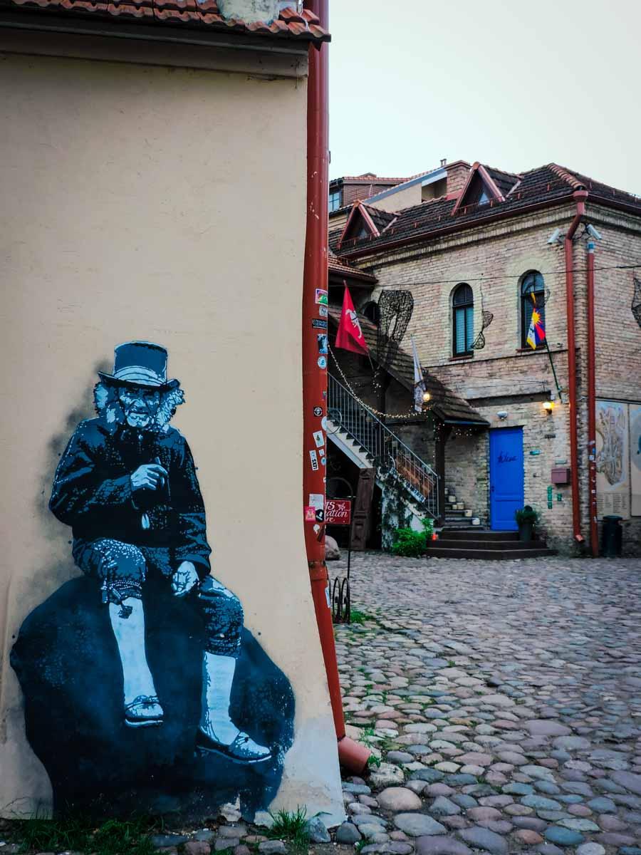 Uzupis street art in Vilnius, Lithuania