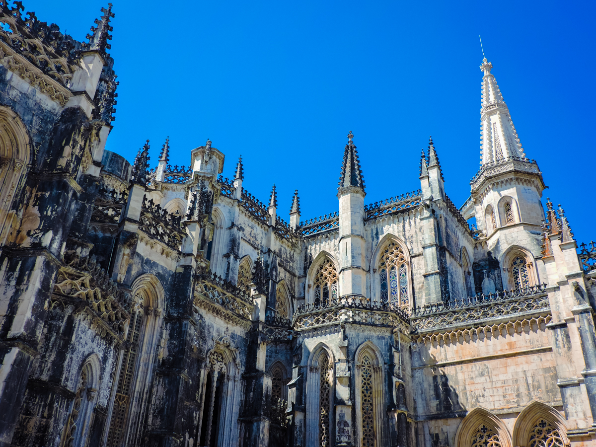 Batalha Cathedral's elaborate exterior details