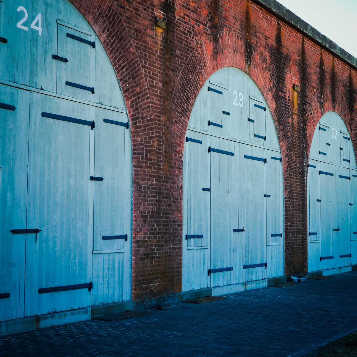 The massive exterior doors of Fort Pulaski, one of the cool things to do in Savannah, Georgia