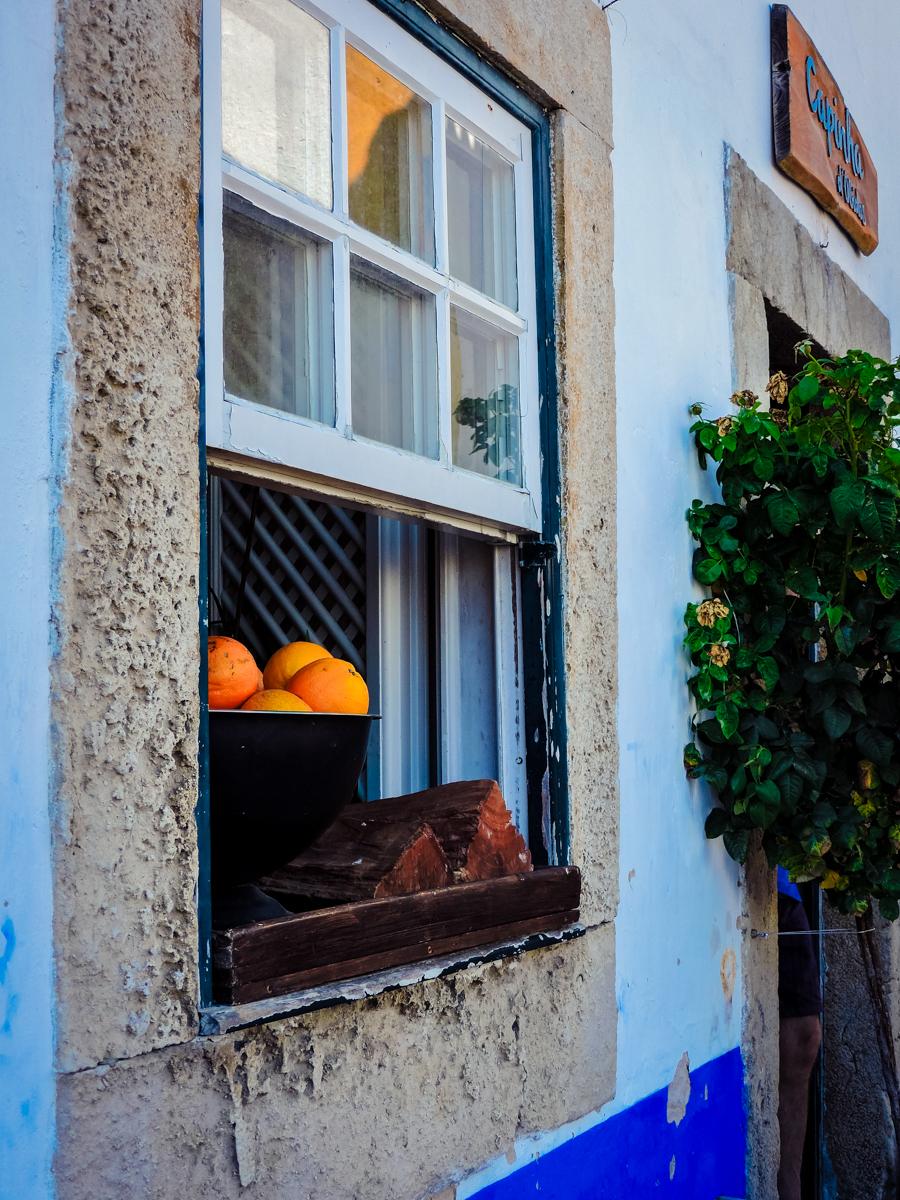 Oranges in an Obidos window