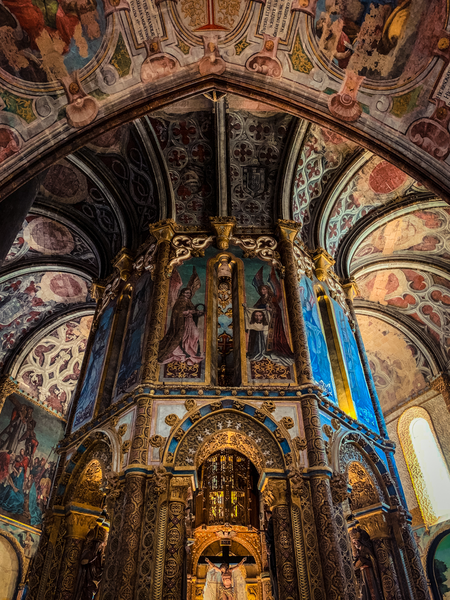 Elaborately painted interior of Tomar convent