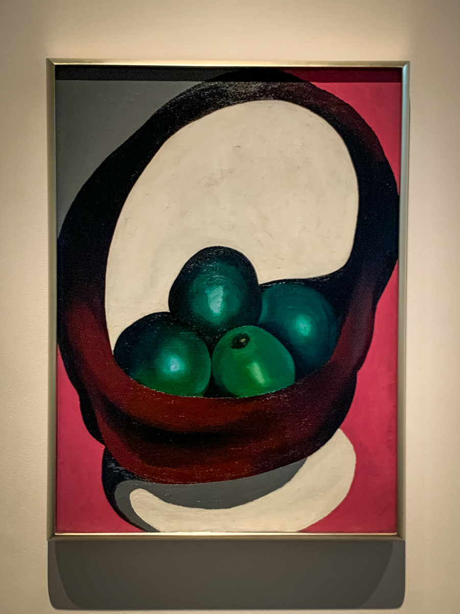Georgia O'Keefe fruit painting