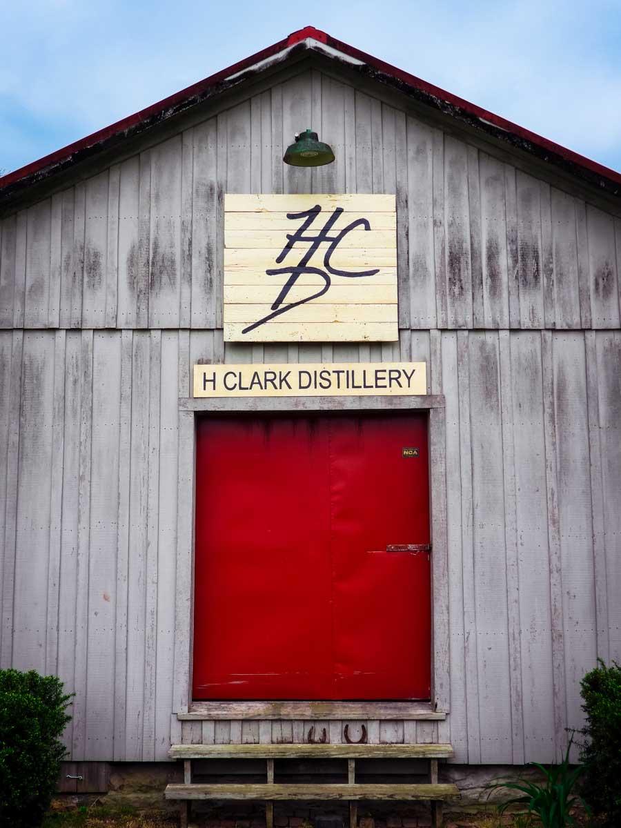 H Clark Distillery red door