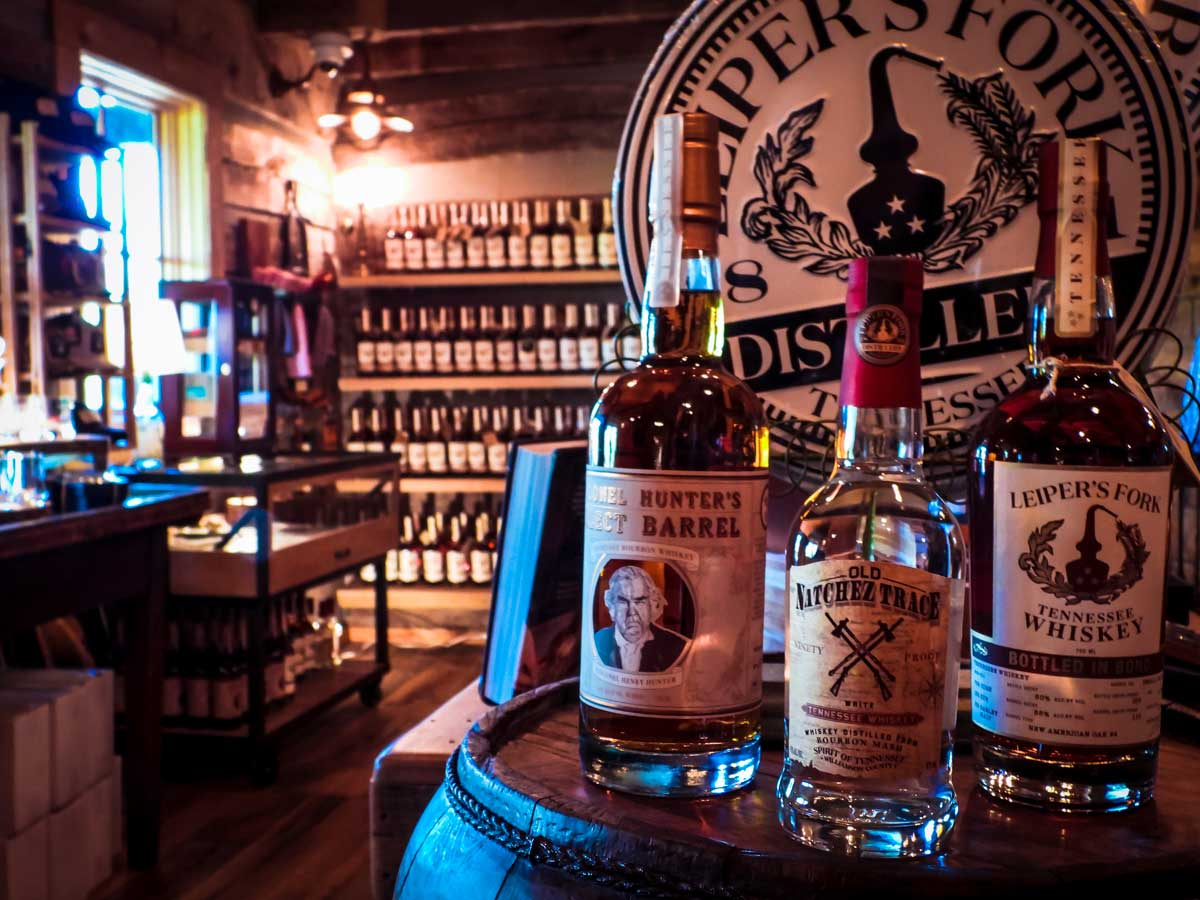 Leiper's Fork Distillery shop, one of many awesome things to do around Franklin, TN
