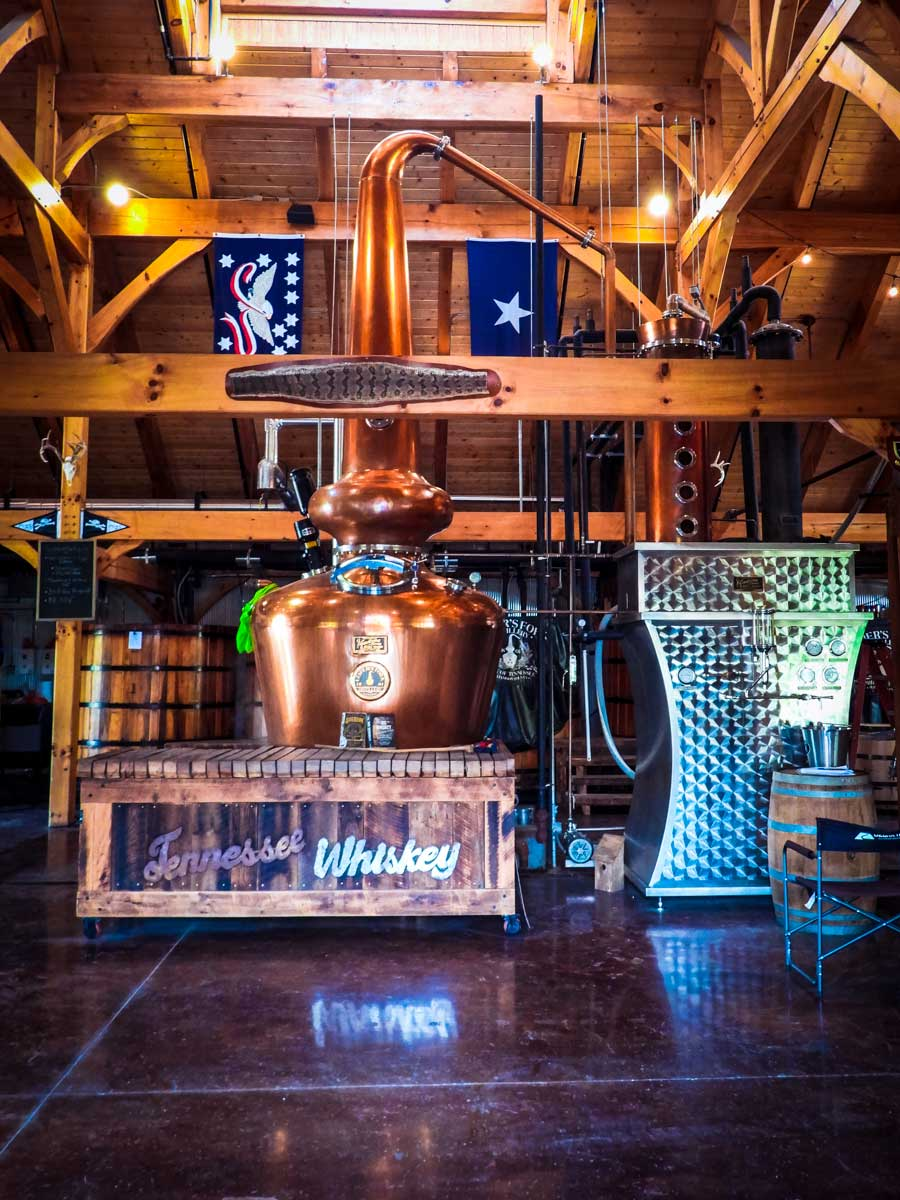 Leiper's Fork Distillery still, one of many awesome things to do around Franklin, TN