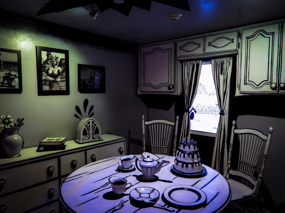 Meow Wolf House of Eternal Return cartoon kitchen