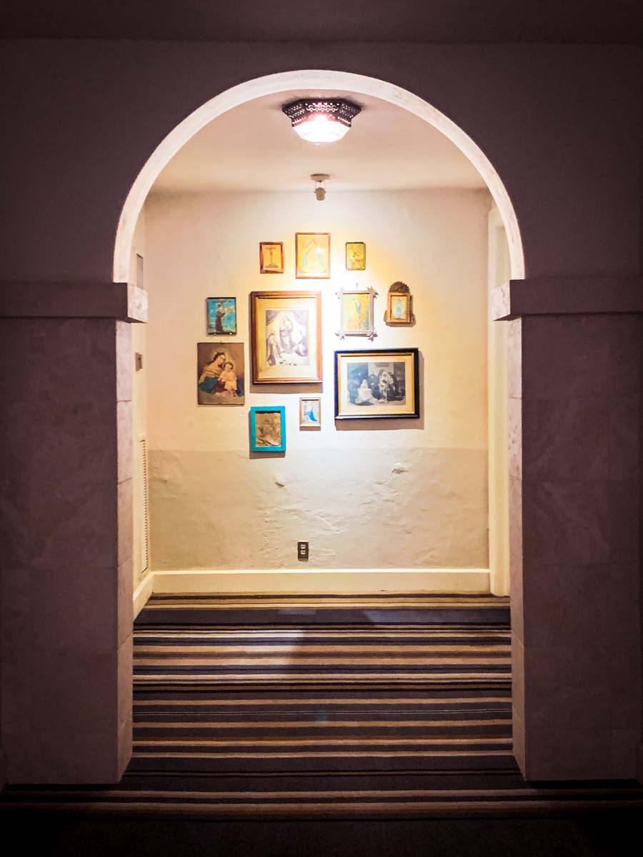 Upstairs hallway at St Francis Hotel in Santa Fe