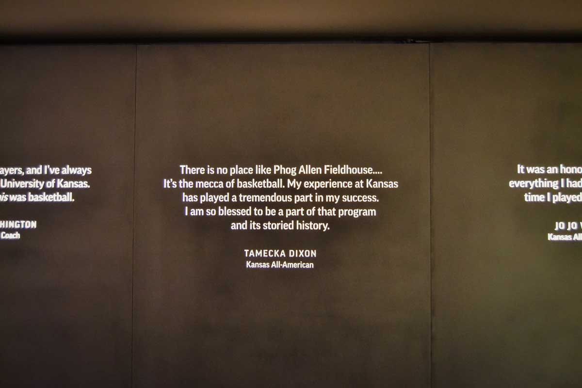 phog allen fieldhouse wall of quotes
