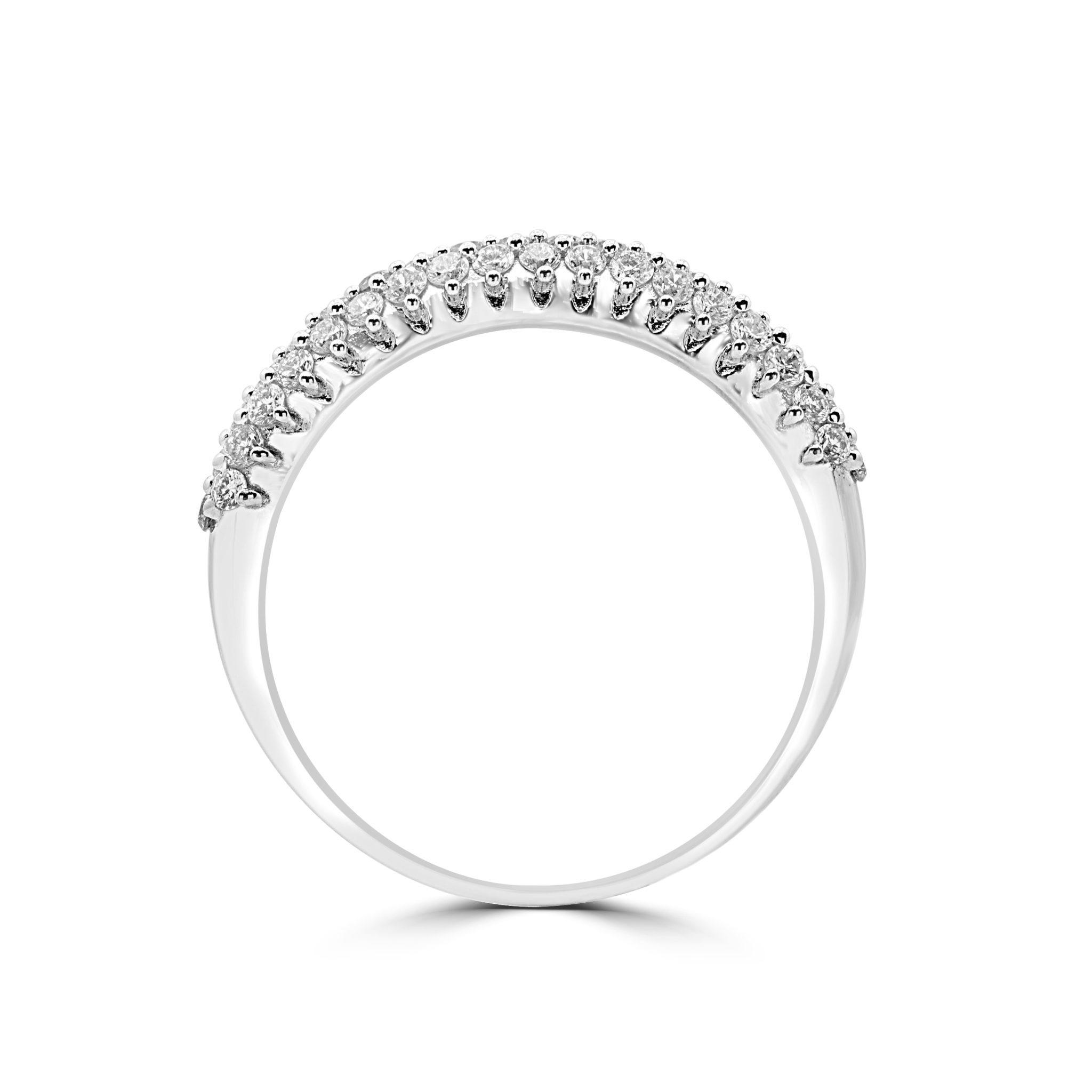Sparkly Diamond Ring 0 58 Ctw In 14k White Gold